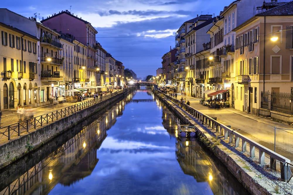 Naviglio Grande Canal - Milano i Italien