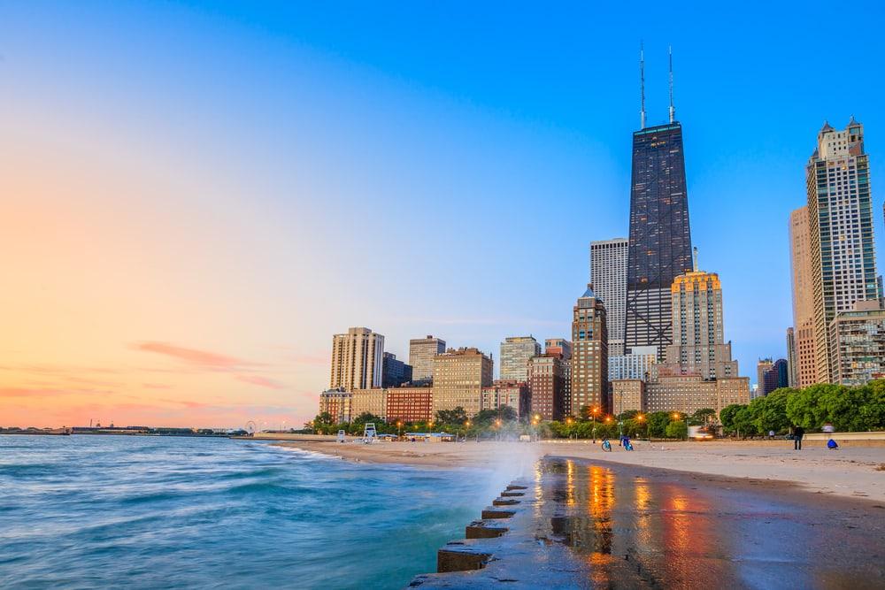 North Avenue Beach - Chicago i Illinois