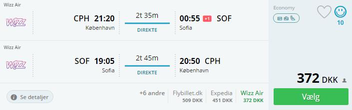 Billige flybilletter til Sofia i Bulgarien