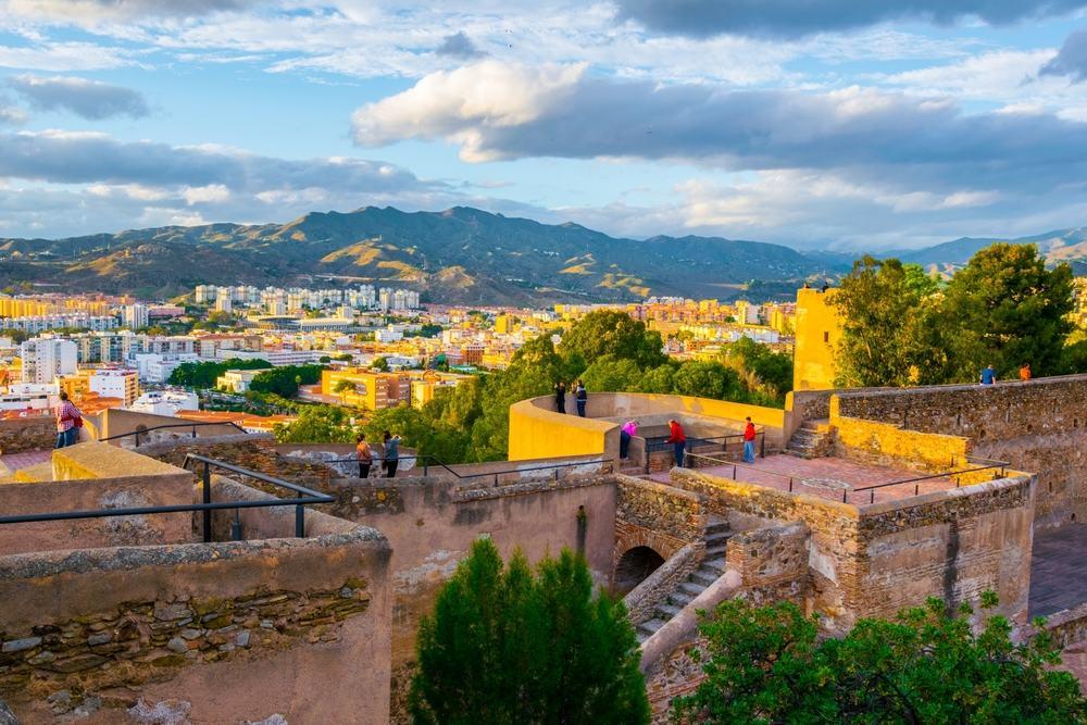 Alcazaba fortet - Malaga i Spanien