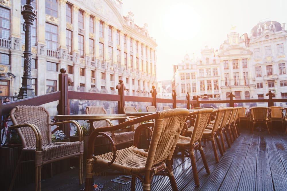 Café i Bruxelles - Belgien