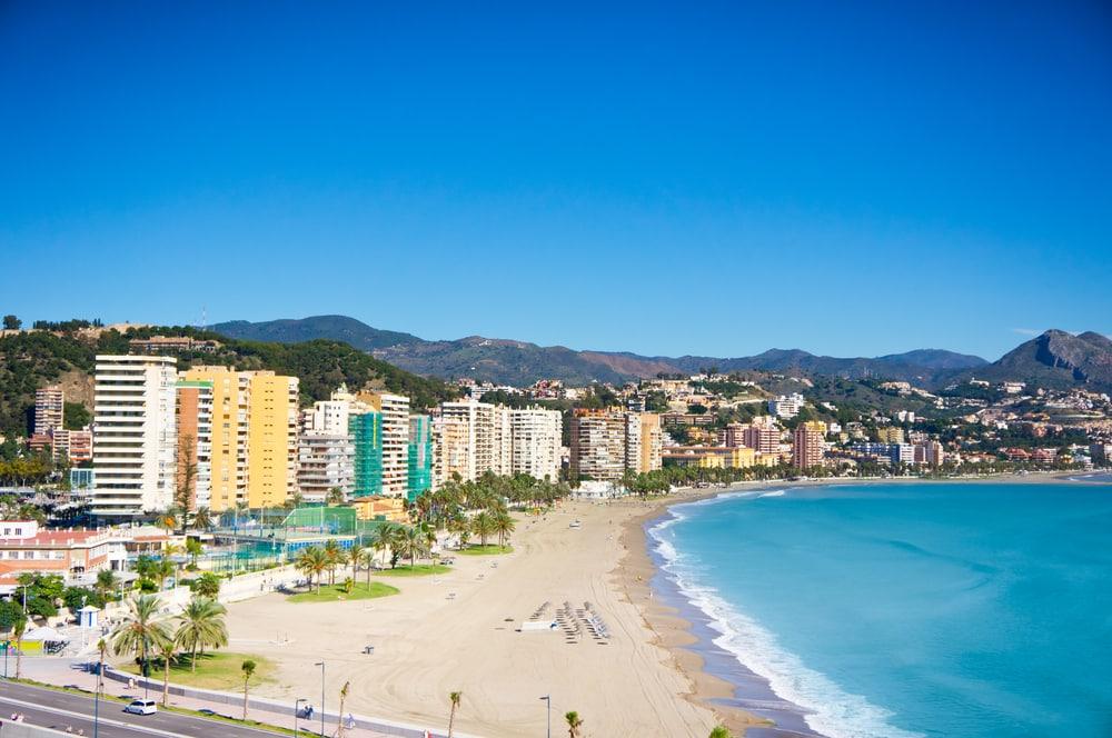 Strand i Malaga
