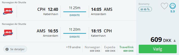 Billige flybilletter til Amsterdam