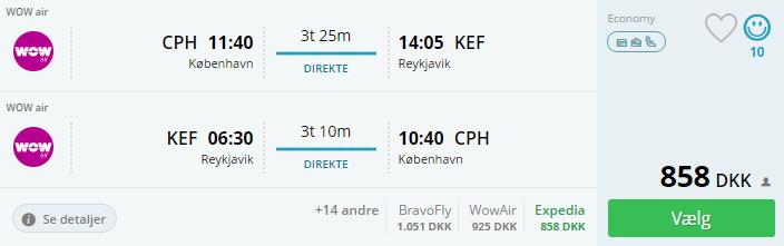Billige flybilletter til Island
