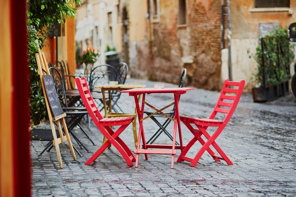 Café i Rom i Italien