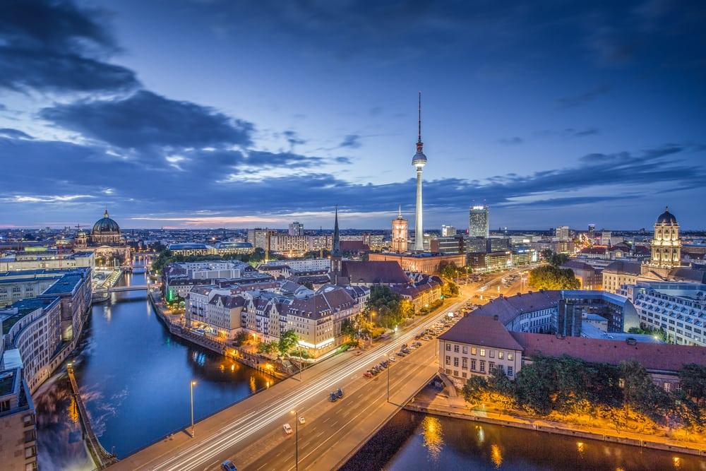 Udsigt over Berlin i Tyskland