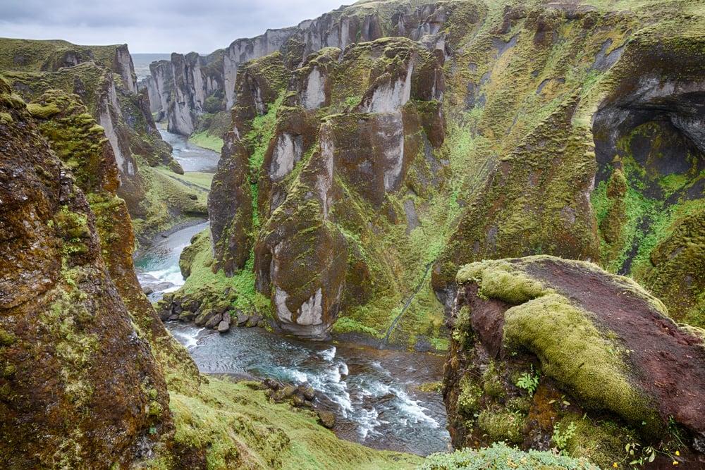Fjadrargljufur på Island