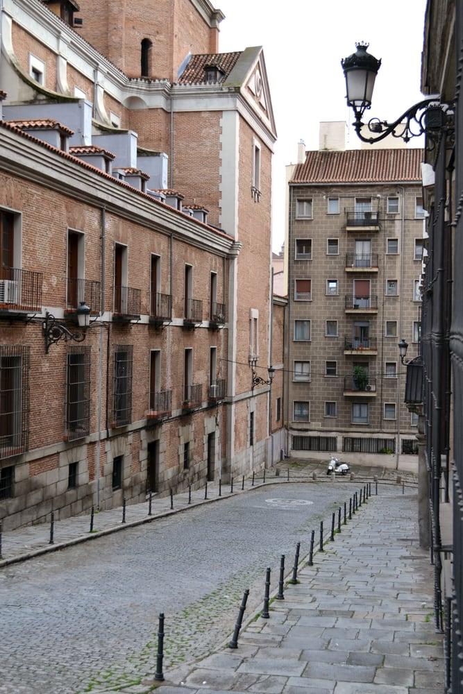 Gade i Madrid i Spanien