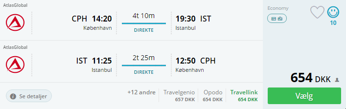 Billige flybilletter til Istanbul
