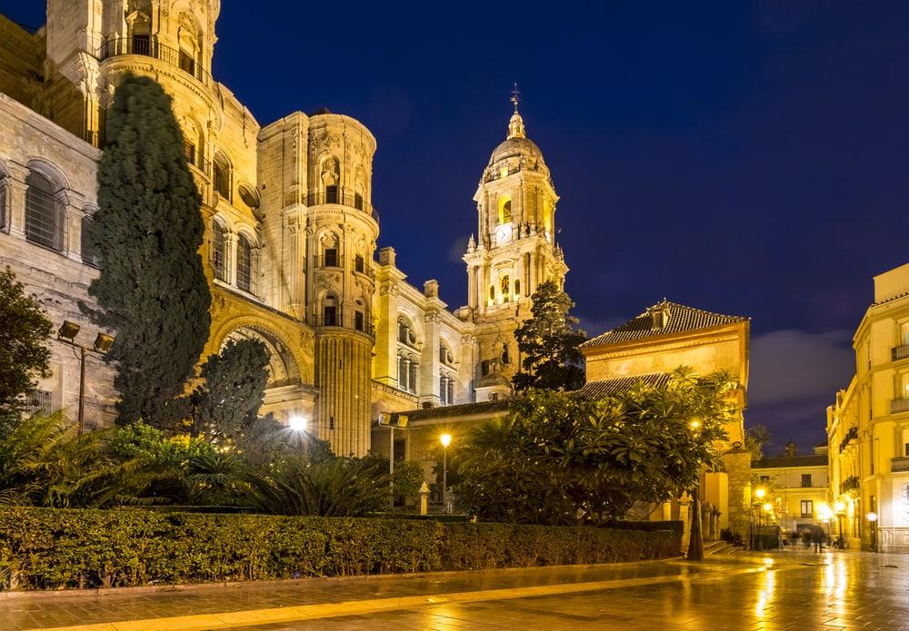Katedral i Malaga i Spanien