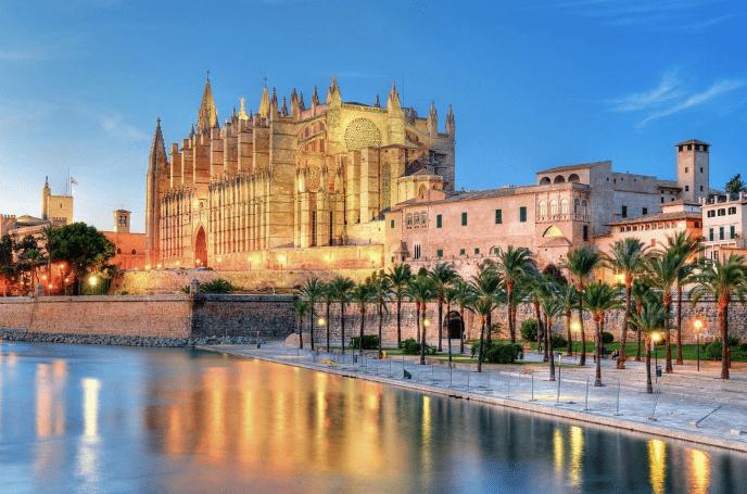 Katedralen Palma - Mallorca i Spanien