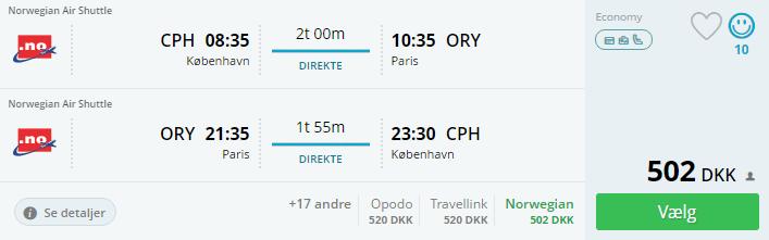 Billige flybilletter til Paris