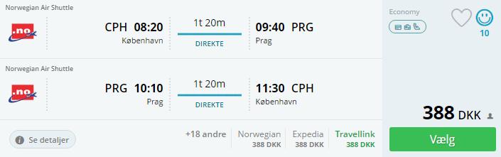 Flybilletter til Prag i Tjekkiet