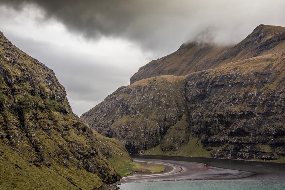 Saksun bugten på Færøerne