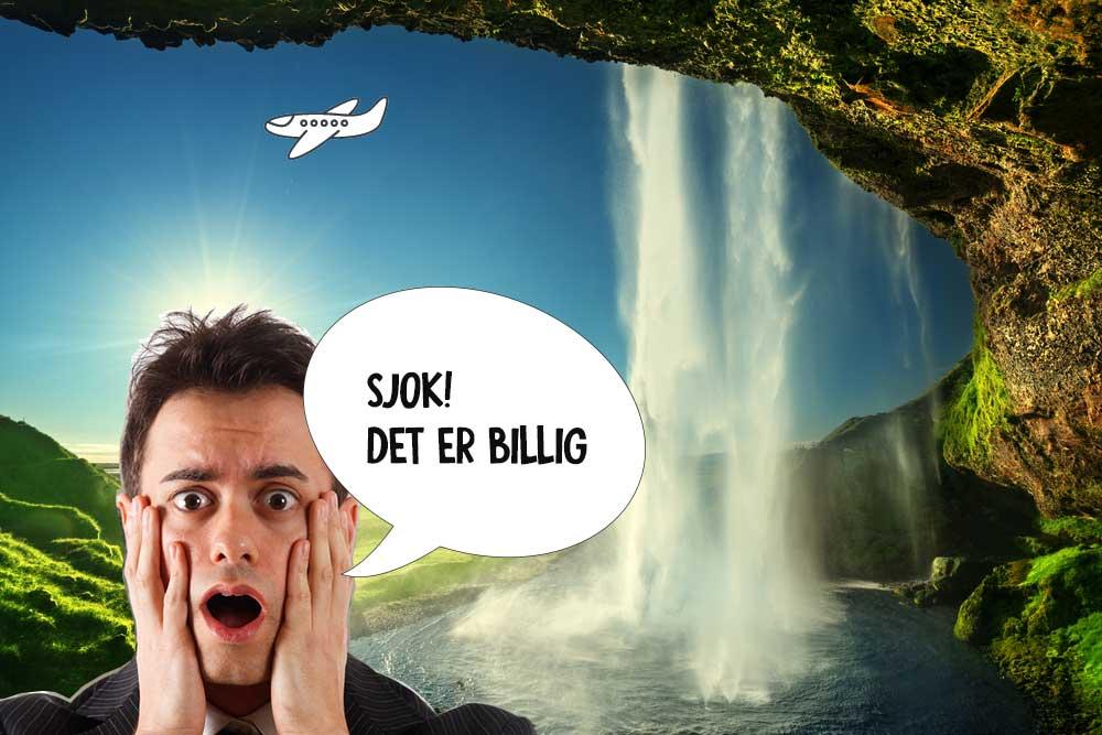 Flyv billigt til Island