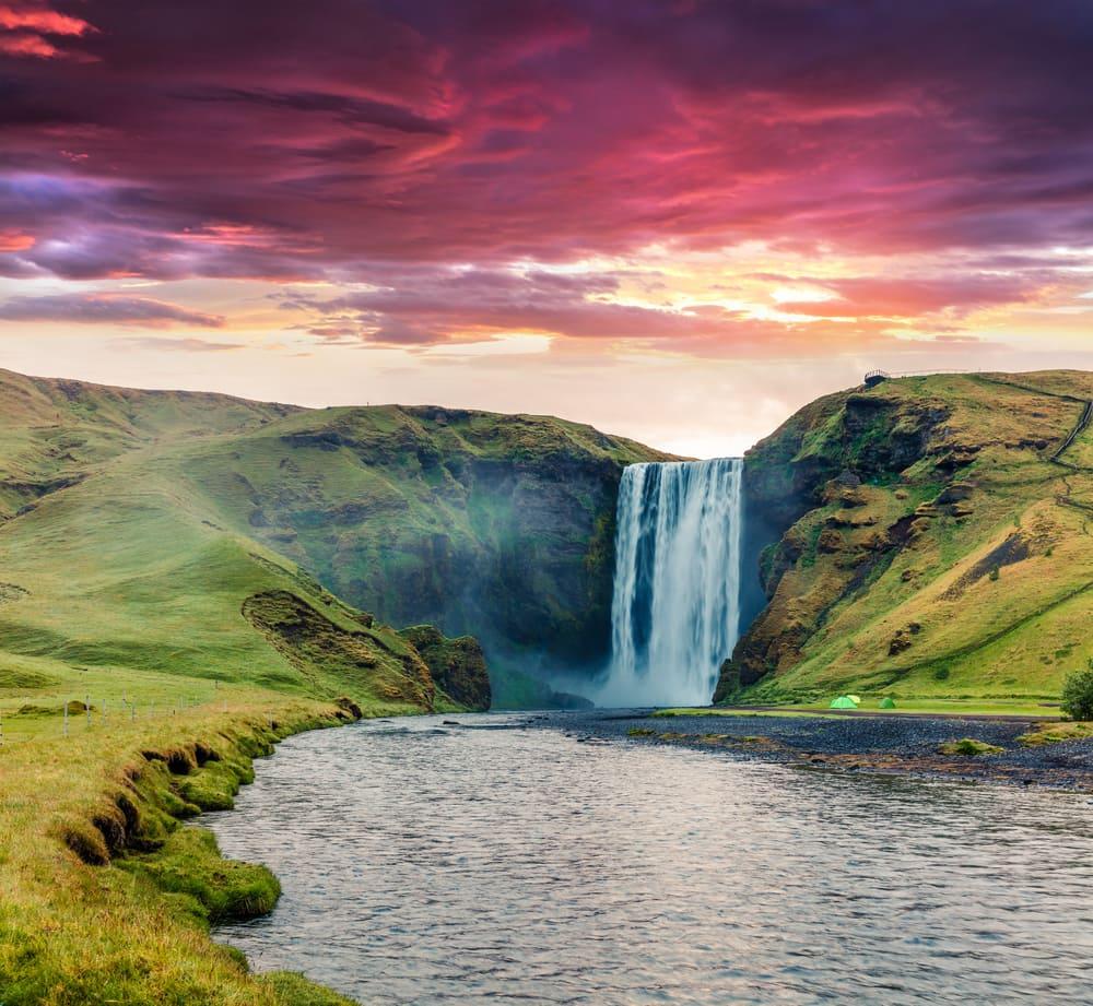 Skogafoss vandfaldet på Island