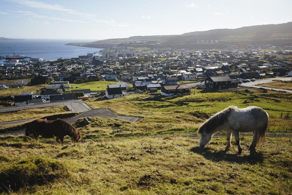 Udsigt over Thorshavn på Færøerne