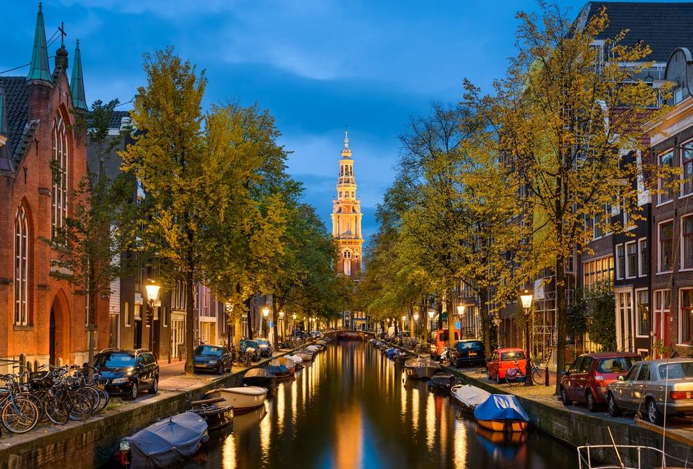 Amsterdam i Holland
