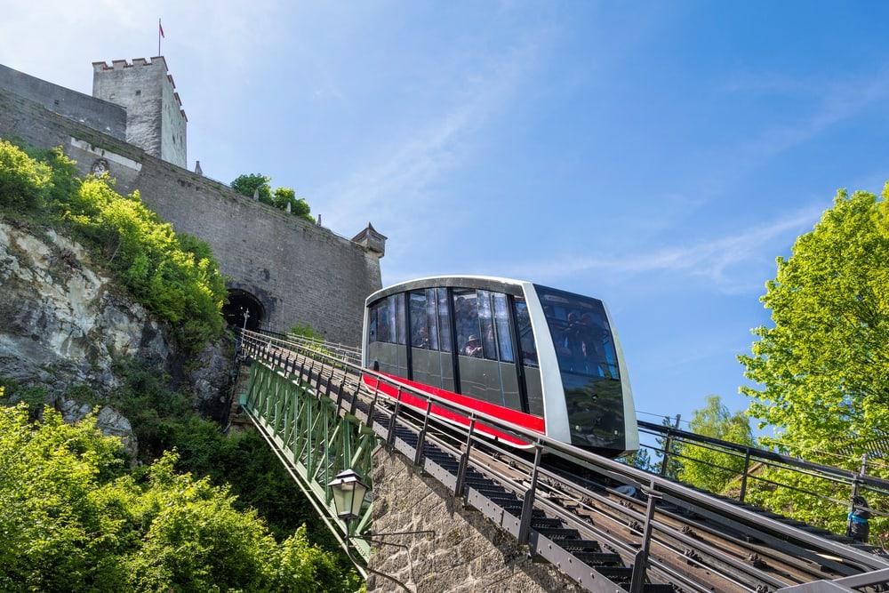 Kabelbane til Hohensalzburg slottet - Salzburg i Østrig
