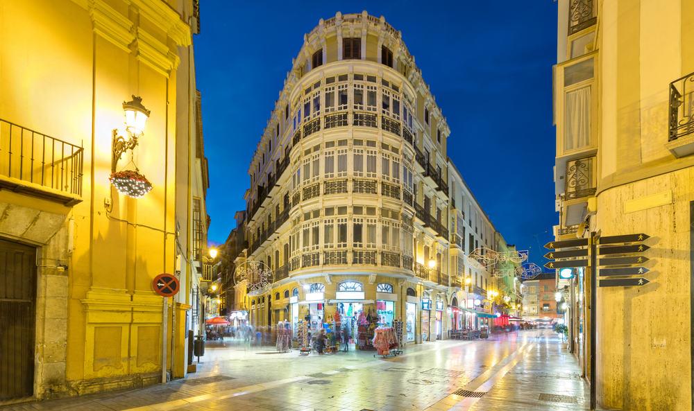 Malaga i Spanien