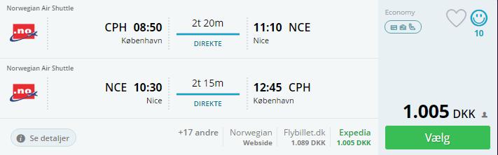 Flybilletter til Nice i Frankrig