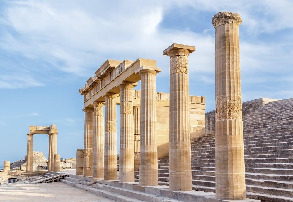 Ruiner på Lindos - Rhodos i Grækenland
