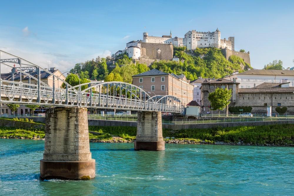 Salzach floden - Salzburg i Østrig