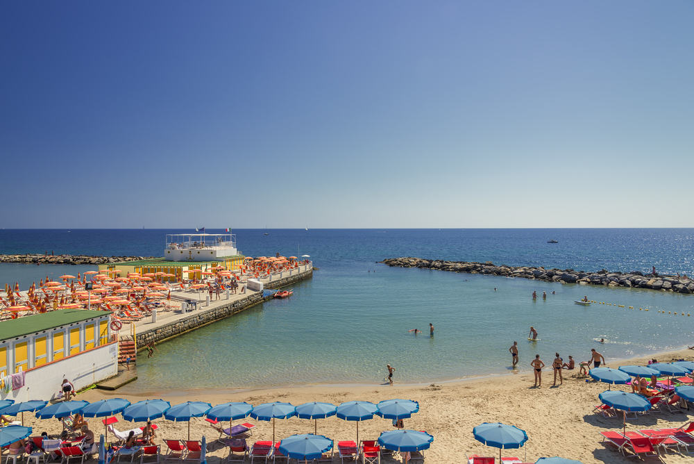 San Remo stranden - Ligurien i Italien