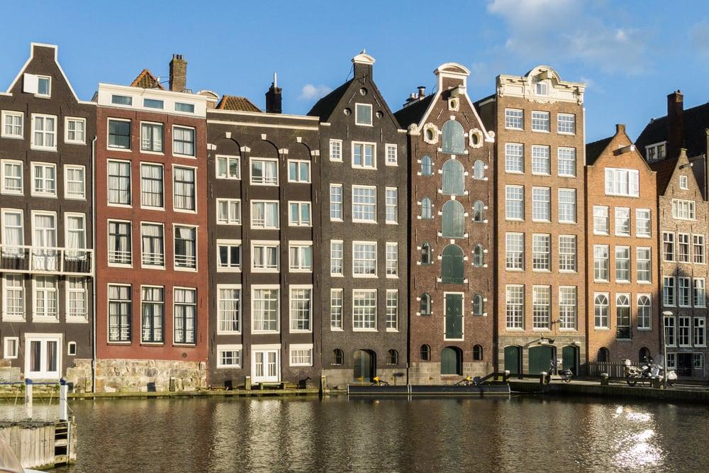 Traditionelle huse i Amsterdam