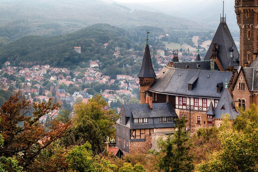 Wernigerode slot - Harzen i Tyskland