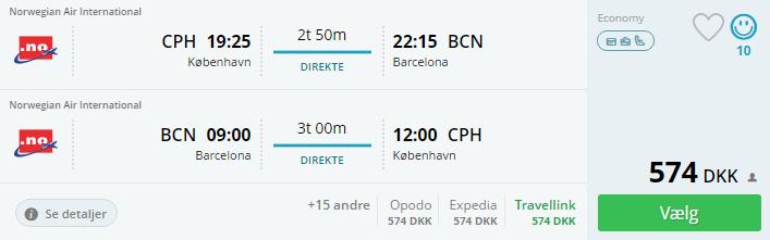 Flybilletter til Barcelona i Spanien