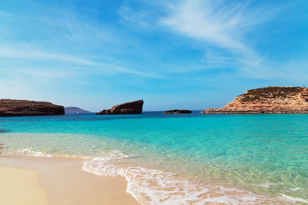 Comino øen - Malta i Spanien