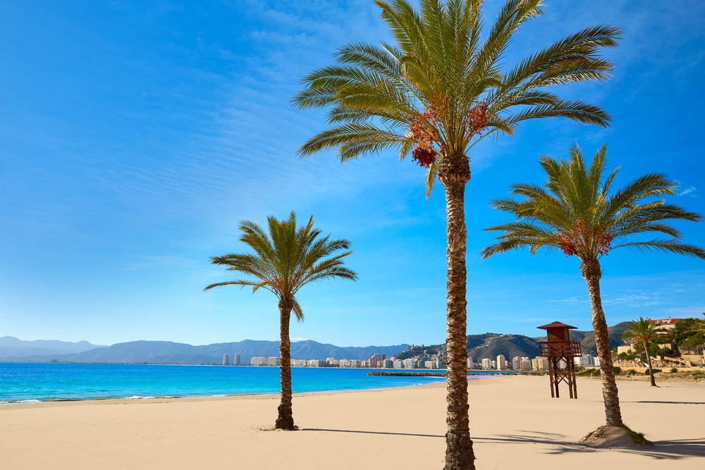 Cullera Playa los Olivos i Valencia - Spanien