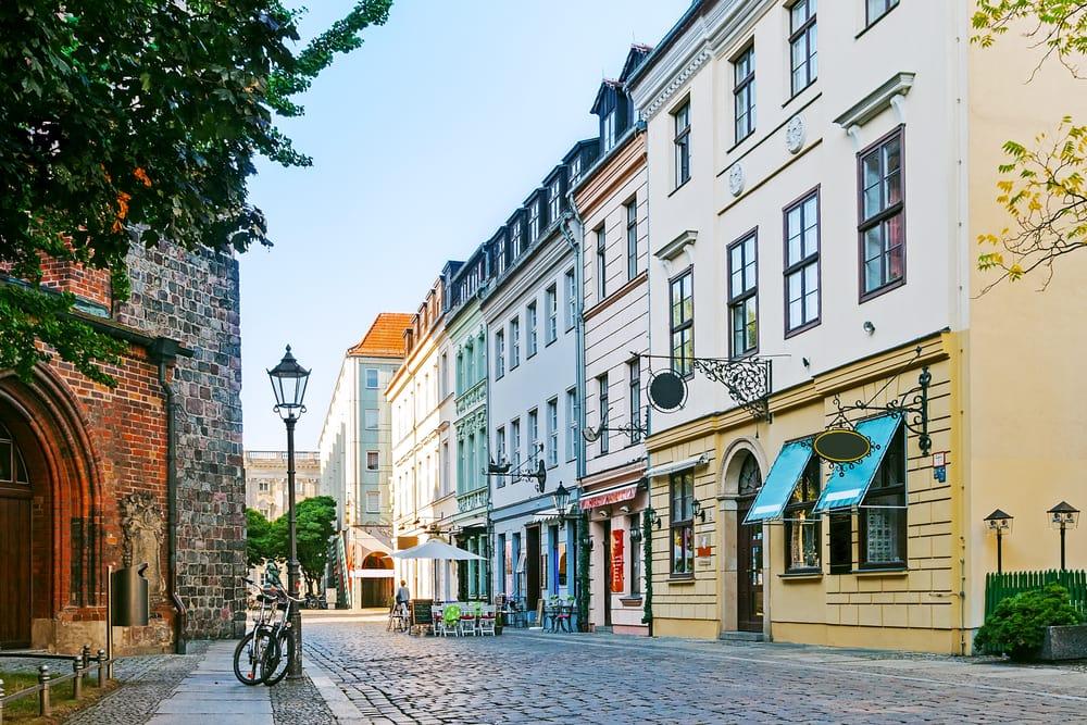Hyggelig gade i Berlin - Tyskland