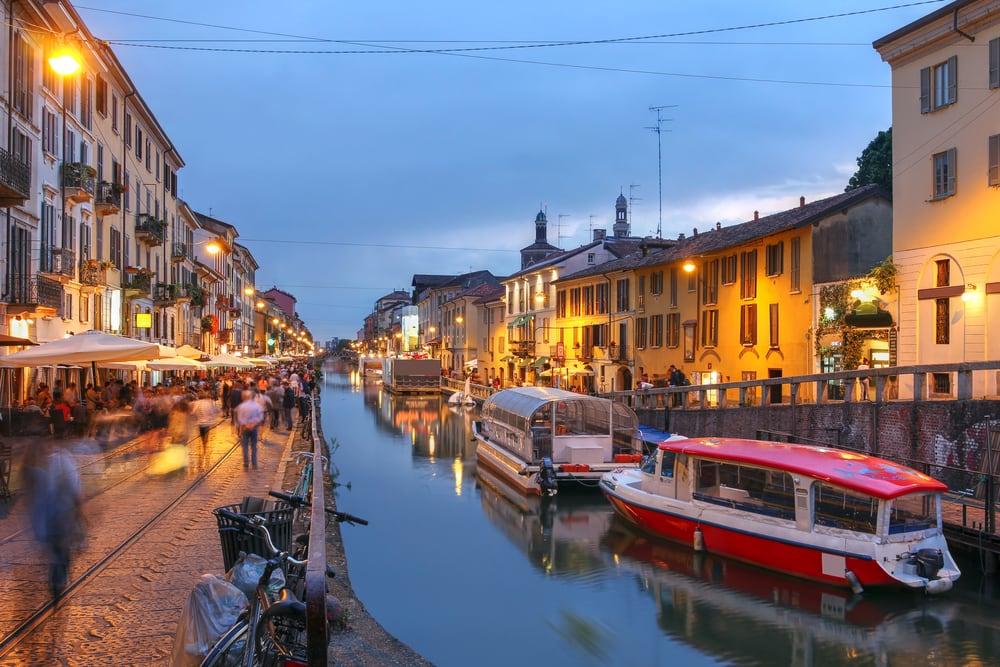Naviglio Grande kanalen - Milano i Italien