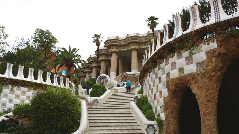Park Guell - Barcelona i Spanien