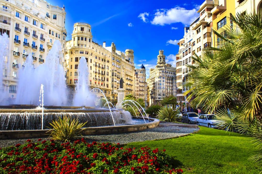 Plaza del Ayuntamiento i Valencia - Spanien
