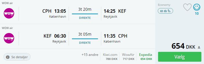 Billige flybilletter til Reykjavik på Island