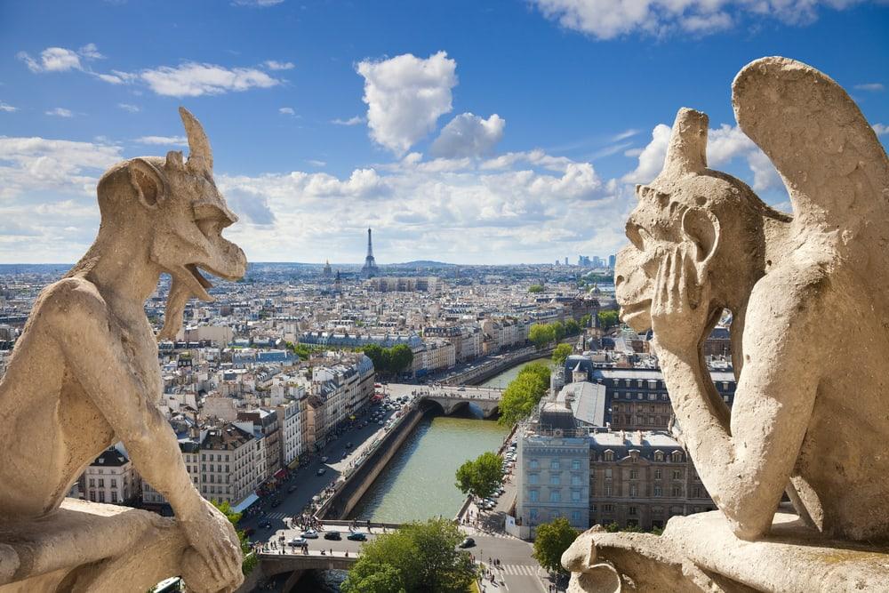 Udsigt fra Notre Dame - Paris i Frankrig