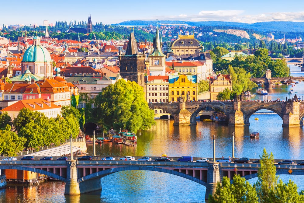 Vltava floden - Prag i Tjekkiet