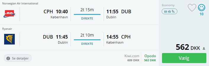 Flybilletter til Dublin i Irland