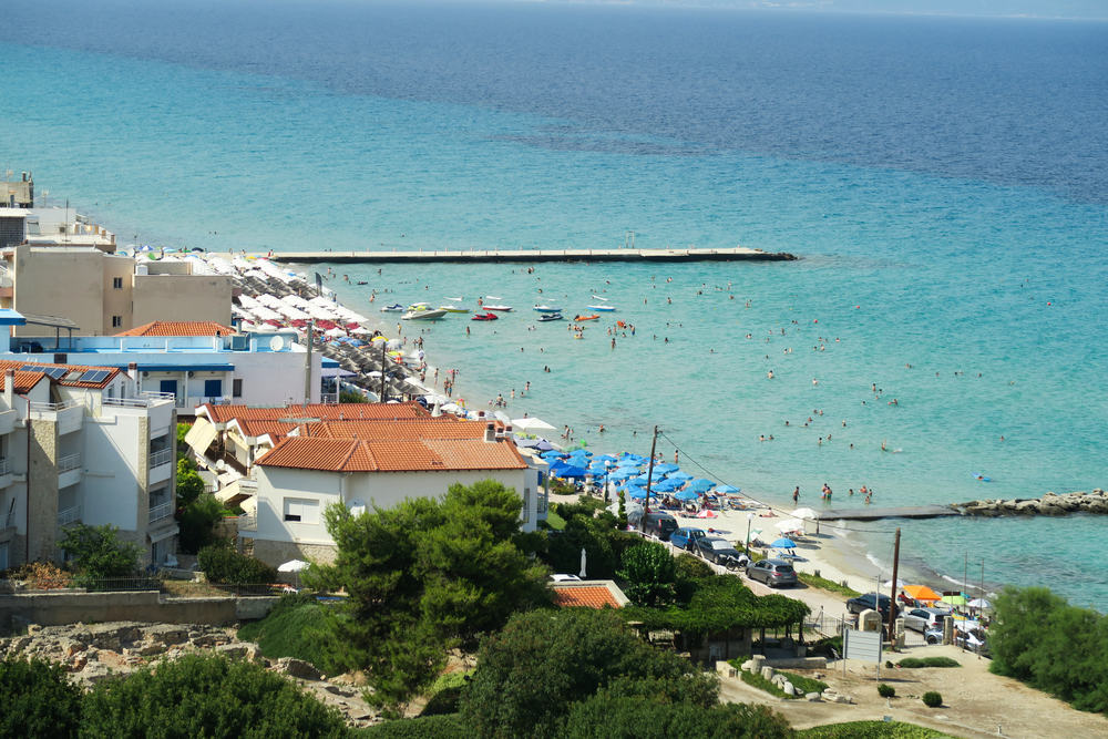 Kallithea stranden - Halkidiki i Grækenland