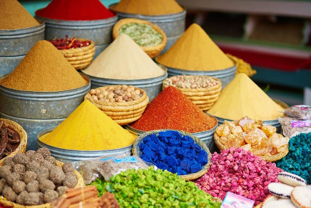 Krydderier - Marked i Marrakech i Marokko
