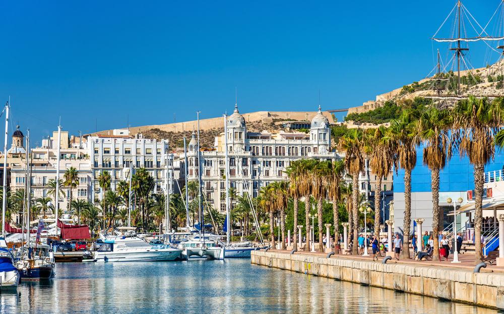 Marinaen i Alicante - Spanien