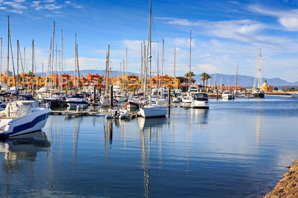 Marinaen i Portimao i Portugal