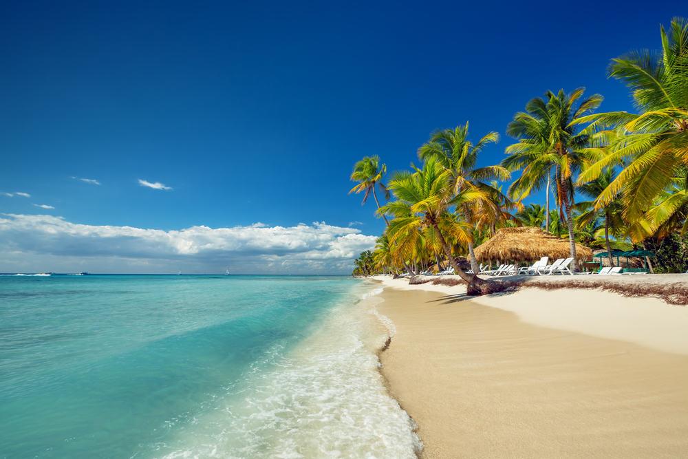 Fantastisk sandstrand i Den Dominikanske Republik