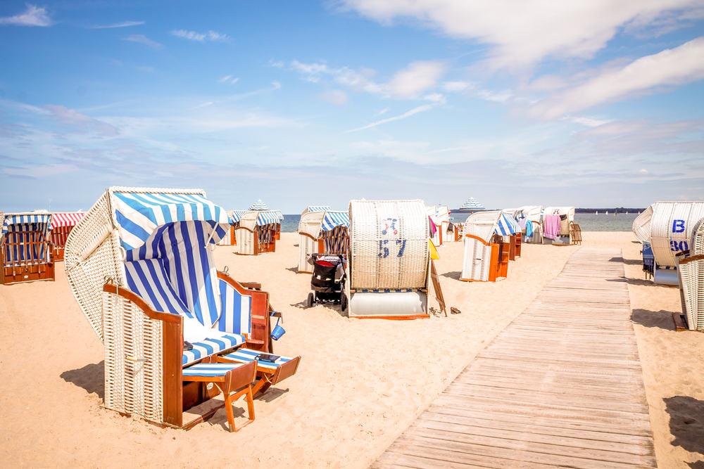 Strandstole - Lübeck i Tyskland