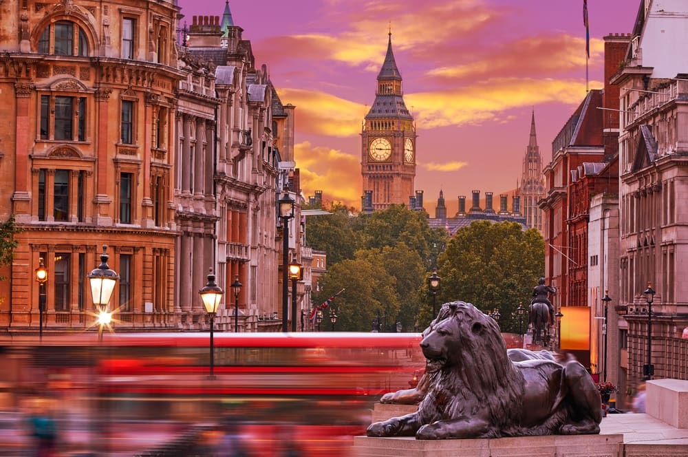 Trafalgar Square - London i England