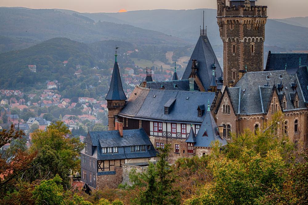 Wernigerode slottet - Harzen i Tyskland