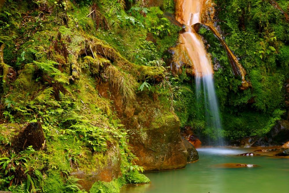 Caldeira vandfaldet - Azorerne i Portugal